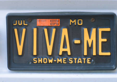 vanity license plate - missouri stock photo, picture and royalty