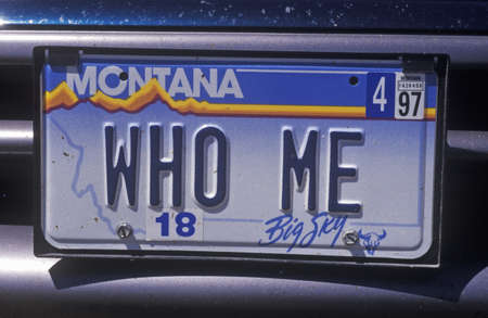 plaque immatriculation: Vanity License Plate - Montana �ditoriale