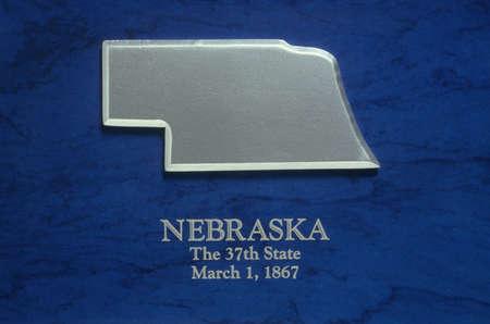 nebraska: Silver Map of Nebraska