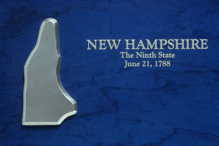 Silver Map of New Hampshire