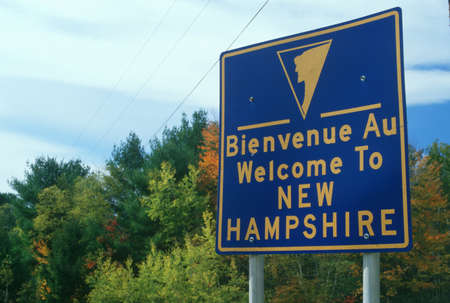cultural artifacts: Welcome to New Hampshire Sign