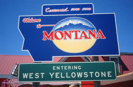 cultural artifacts: Welcome to Montana Sign