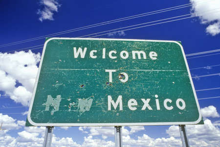 cultural artifacts: Welcome to New Mexico Sign