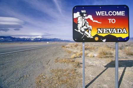cultural artifacts: Welcome to Nevada Sign