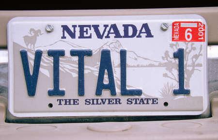 Vanidad placa - Nevada Foto de archivo - 20514171