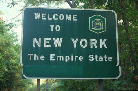 cultural artifacts: Welcome to New York Sign