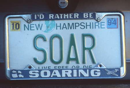 Vanity License Plate - New Hampshire