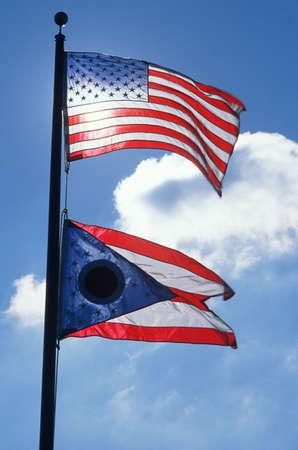 State Flag of Ohio Editorial