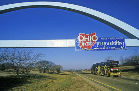 cultural artifacts: Welcome to Ohio Sign