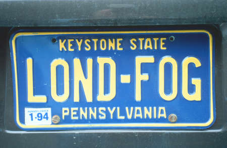 Vanity License Plate - Pennsylvania