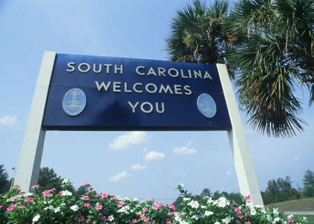 cultural artifacts: Welcome to South Carolina Sign