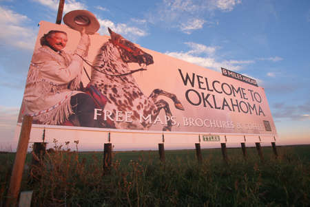 great plains: Welcome to Oklahoma Sign