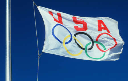 cultural artifacts: Olympics Flag of USA Editorial