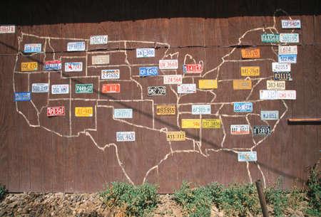 虚栄心のナンバー プレート - アメリカ合衆国 報道画像