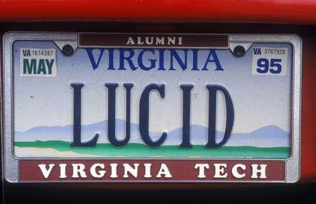 coherent: Vanity License Plate - Virginia Editorial
