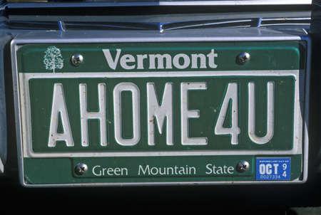 Vanity License Plate - Vermont