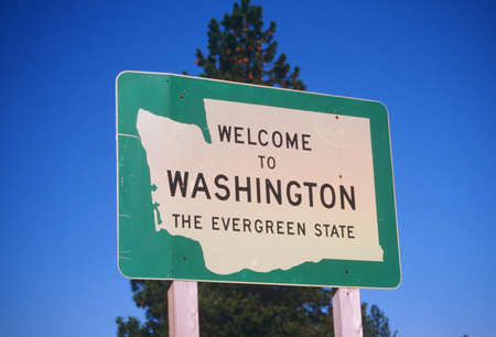 cultural artifacts: Welcome to Washington State Sign