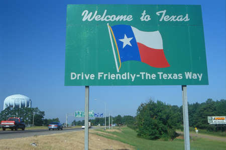 Welcome to Texas Sign Stock Photo - 20515512