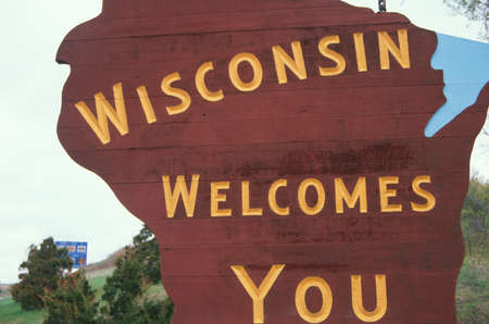 cultural artifacts: Welcome to Wisconsin Sign