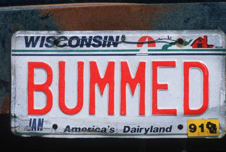 Vanity License Plate - Wisconsin