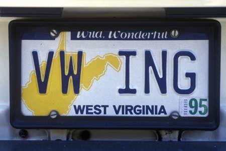 Vanity License Plate - West Virginia