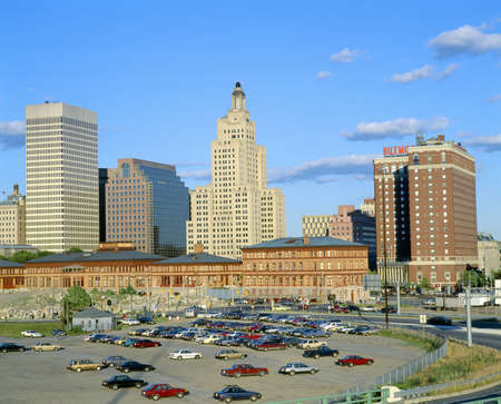 new car lots: Providence, Rhode Island Skyline, State Capitol