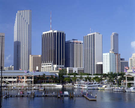 unspecified: Miami Skyline from Bay, Florida