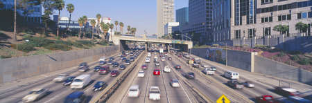 urban sprawl: Harbor Freeway at Rush Hour, Los Angeles, California