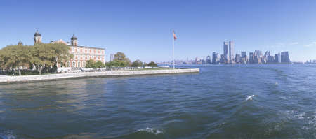 Ellis Island, Manhattan Skyline, New York