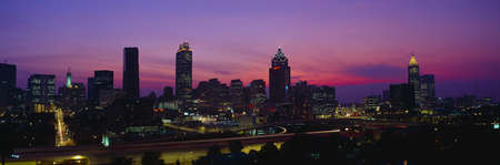 Atlanta Skyline, I-20, Georgia Redakční