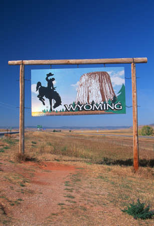 cultural artifacts: Welcome to Wyoming Sign