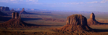 monument valley view: Aerial View from Butte, Monument Valley, Arizona Editorial
