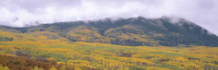 ranges: Autumn clouds at Kebler Pass, Gunnison National Forest, Colorado Editorial