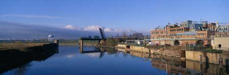industrial landscape: Paesaggio industriale lungo Rogue River, Detroit, Michigan