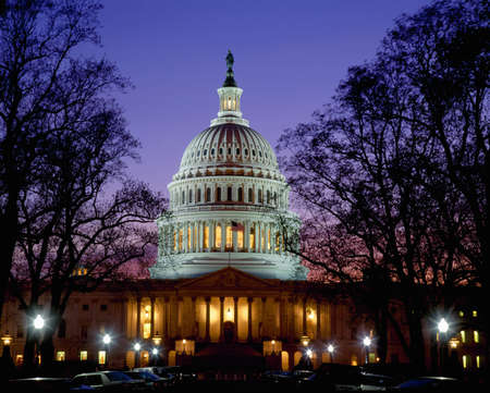 washington landscape: US Capitol at dusk, Washington DC