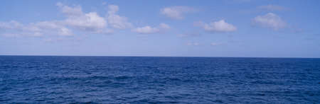 the silence of the world: Blue Pacific ocean and clouds off Hawaii