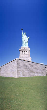Statue of Liberty and pedestal, New York Editorial
