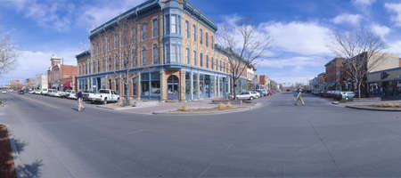 at town square: Walnut & Linden Streets, Fort Collins (inspired Disneylands Main St. USA), New York