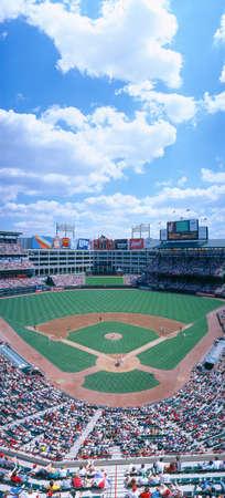 stadia: Baseball stadium, Texas Rangers v. Baltimore Orioles, Dallas, Texas