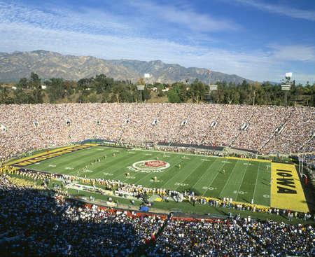 stadia: 77th Rose Bowl game, Washington v. Iowa, Pasadena, California Editorial