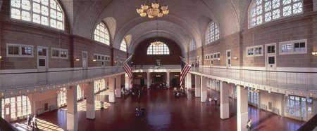 societal: Great Hall of Immigration at Ellis Island, New York