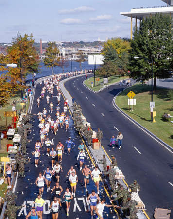Runners in 17th Marine Marathon, Washington DC