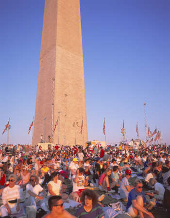 desert storm: Muchedumbre en Desert Storm desfile de la victoria, Washington DC Editorial