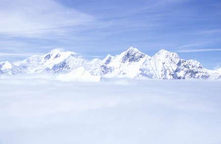 Mountain tops in St. Elias National Park and Preserve, Wrangell Mountains, Wrangell, Alaska