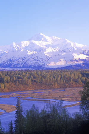 mckinley: View of Mt. McKinley and Mt. Denali from George Park Highway, Route 3, Alaska