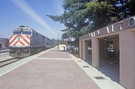 Caltran train in Cupertino, California Editorial