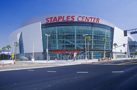 staples: Staples Center, home to the NBAs Los Angeles Lakers, Los Angeles, California