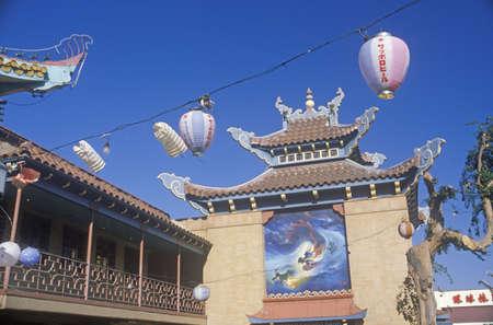 カリフォルニア州ロサンゼルスの中華街 報道画像