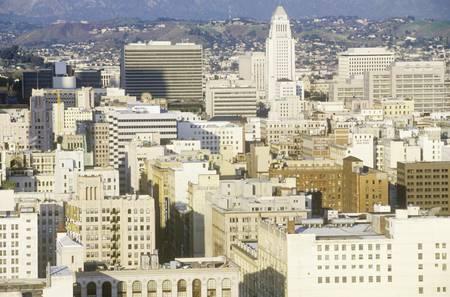urban sprawl: Old Los Angeles skyline, Los Angeles, California