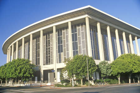 chandler: The Dorothy Chandler Pavilion in the city of Los Angeles, California Editorial